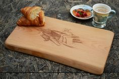 This engraved wooden cutting board could be a great addition to your kitchen. Our personalized engraved cutting boards also are perfect for wedding gifts, anniversary gifts or a housewarming gift. Size approximately: length: 14,82 in.(38cm.) width: 8,77 in.(22.5cm.) height: 0,89 in.(2.3cm.)