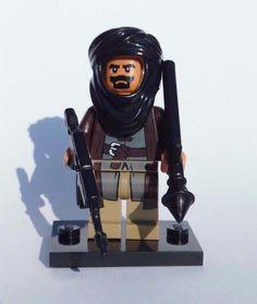 NEW CUSTOM LEGO BATMAN WEAPONS SOLDIER TALIBAN W/ TAN HEAD & HANDS TERRORIST #LEG0