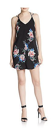 Saks Fifth Avenue RED Floral Print Strappy Shift Dress - was $108.0, now $59.99 (44% Off) @ Off 5th