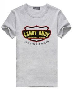2 broke girls candy andy t shirt for boys short sleeve-