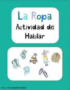 FREE activities for practicing clothing vocabulary in Spanish by the Enlightened Elephant