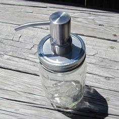 20f27d9a04e Rustproof Stainless Steel Mason Jar Foaming Hand Soap Pump