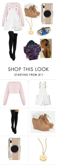 """""""My Everyday Outfit #6"""" by alphastar ❤ liked on Polyvore featuring Hollister Co., JustFab, Kate Spade and Astley Clarke"""