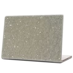 White - Glitter Laptop Skin (hex .015) by IridescentBeauty, $40.00 - Love! Glamorous and affordable.