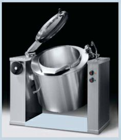 Heavy duty Tilting Kettle,Stainless steel AISI 304 construction,Motorised tilting, with filler faucet,Max. Temp. 105 deg. C,Double jacket pressure0.5bar,Indirect heating.