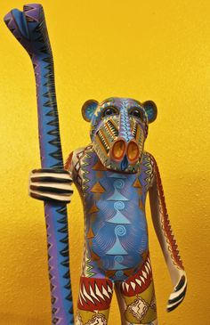 Oaxacan Woodcarving by Martin Pacheco. Once in a lifetime carving. (Called alibrijes in Mexico)