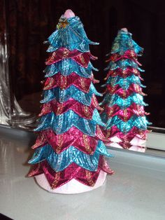 Christmas Tree Table Decoration made from shimmery by Craftavie, £8.00