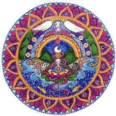 7. Chakra-Mandalas Kunst Card - Kronenchakra - Sahasrara - heilende Kunst - Meditation - Yoga