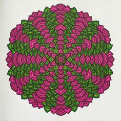 Creatie 2016-32, 14-12-2016 Het enige echte mandala kleurboek met Stabilo 68