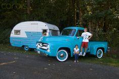 VINTAGE SHASTA CAMPERS | Vintage Ford Pickup and 1964 Serro Shasta Trailer - 42-17746831 ...