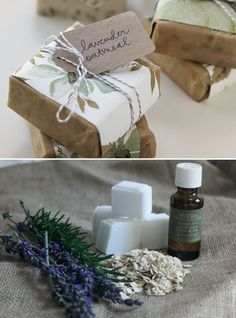 DIY: Make lavender   oatmeal soap. Cheap and easy holiday gift.