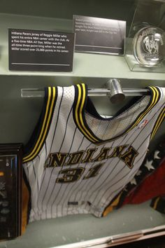 View photos for 2012 Basketball Hall of Fame Indiana Pacers Jersey, Reggie Miller, View Photos, All Star, Nba, Basketball, Sports, Hs Sports, Star