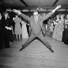 """""""Man in a Three-Piece Suit Dancing Within the Circle at a Wedding,"""" Rockville Centre, New York, 1976"""