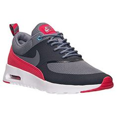 Women's Nike Air Max Thea Running Shoes| FinishLine.com | Anthracite/Cool Grey/Legend Red