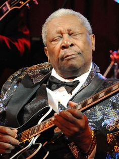 B B King... anyone who can hold the crowd at Glastonbury at the age of 85 like he did..