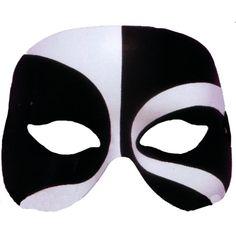 Halloween Forum Novelties Black and White Voodoo Costume Eye Mask Adult Standard, Adult Unisex Voodoo Costume, Halloween Forum, Halloween Party, Horror Masks, Super Hero Outfits, Masquerade Costumes, Half Mask, Cool Masks, Mascaras