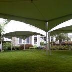 20x20 high peak frame tent x 3 no center poles