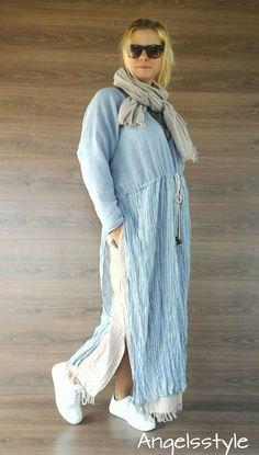 Купить Платье и шарф в стиле бохо - платье на каждый день, платье ручной работы