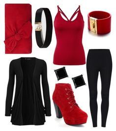 """""""Crazy Red and Black"""" by sadsmith ❤ liked on Polyvore featuring WearAll, L.K.Bennett, Dorothy Perkins and Alberto Moore"""
