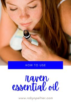 Raven essential oil is amazing for your respiratory system. Lean all its benefits and how to use it on this post. It's super helpful. #aromatherapy #essentialoils #respiratory Raven Essential Oil, Natural Essential Oils, Young Living Essential Oils, Natural Oils, Ravintsara, Respiratory System, Healthy Living Tips, Natural Living, Starter Kit