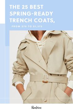 The 25 Best Spring-Ready Trench Coats, from $70 to $1,375 #purewow #spring #trends #fashion #shoppable #outerwear #shopping 70s Fashion, Modest Fashion, Teen Fashion, Korean Fashion, Vintage Fashion, Fashion Outfits, Petite Fashion Tips, Fashion Tips For Women, Leather Trench Coat