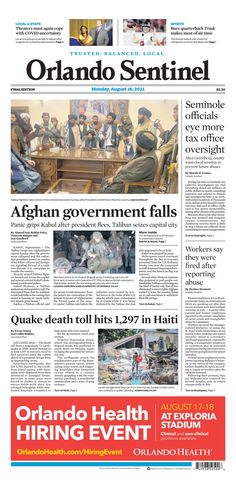 Orlando Sentinel New York Post, Capital City, Presidents