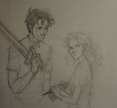 those expressions are priceless- nice job burdge! <<< this deserves to be on both my boarss Percy Jackson Fan Art, Percy Jackson Fandom, Drawing Sketches, Art Drawings, Dibujos Percy Jackson, Burdge Bug, Oncle Rick, Daughter Of Poseidon, Percy And Annabeth