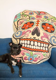 Noggin Off to Sleep Pouf. After a long day, you only have one thing in mind - resting your head on this skull pillow from Karma Living! I WANT THIS SO BAD! Decorative Accessories, Home Accessories, Vintage Decor, Retro Vintage, Skull Pillow, Skull And Bones, Dorm Decorations, Hope Chest, Dog Bed
