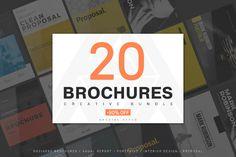 20 Creative Brochures - Mega Bundle by Kovalski on @creativemarket #graphicdesign #design
