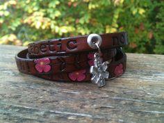 LEATHER Medical Alert ID Wrap Bracelet  Diabetes by GratifyDesign, $25.00