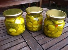 Canning Recipes, Preserves, Pickles, Cucumber, Zucchini, Mason Jars, Food And Drink, Appetizers, Storage