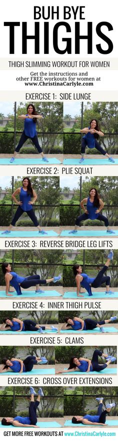The Best Inner thigh Exercises | Thigh Slimming Workout for Women