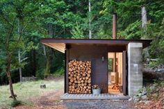 A Master Architect Builds a Tiny Cabin in the Pacific Northwest is part of One room cabins - On Salt Spring Island in British Columbia lies a tiny oneroom cabin, a finely detailed retreat from Seattlebased Olson Kundig Architects Its sleek desig