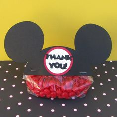 Items similar to MIckey Mouse Ears Treat / Party Favor Thank You Goodie Bags (Set of 30) on Etsy