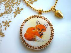fox necklace on dawanda