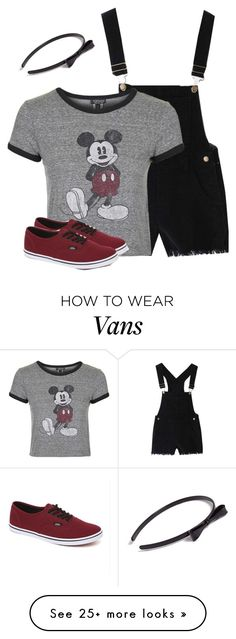 """Two-Bit was ❌"" by wafflez-cry-syrup on Polyvore featuring Topshop, Vans and L. Erickson"