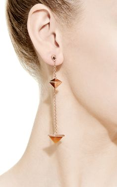 Pyramid Pendulum Earring by Eddie Borgo for Preorder on Moda Operandi