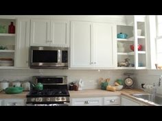 Finished Kitchen Reveal | GHC In-Depth With P. Allen Smith  -Candy in apothecary jars  -Lamb   -Aqua rusted can  -Honey on counters