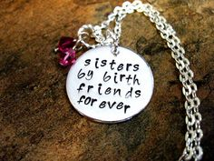 Sister Necklace Sisters Jewelry Personalized by CharmAccents, $22.00
