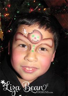 Gingerbread Man Face Painting   This funny design, for boys or girls, was inspired by Lisa Joy Young (check her out on youtube).
