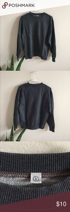 dark grey thin pullover super great quality, only flaw is a small bleach stain on the front! hardly noticeable. great to throw over during chilly summer nights as it's not super thick! size small but fits XS-M depending on desired fit.  NOT BRANDY JUST EXPOSURE X Brandy Melville Tops Sweatshirts & Hoodies