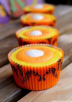 Glazed Halloween cupcakes
