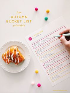 Ann-Marie Loves | Free Autumn Bucket List Printable
