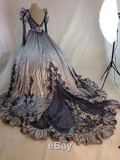 Gothic Halloween Steampunk Victorian Ball Gown Wedding Dress Vampire Masquerade
