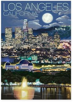 """Los Angeles California"" Blue Skyline Giclée Canvas Wall Art https://api.shopstyle.com/action/apiVisitRetailer?id=608433593&pid=uid8100-34415590-43"