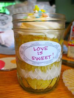 Everyday A: Bridal Shower mason jar cupcakes