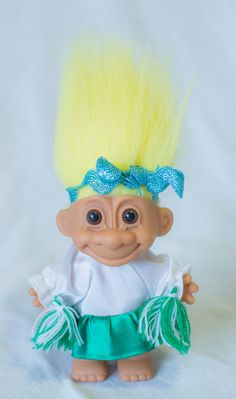 Vintage Russ Troll Doll with yellow hair by toysandtutusbyjojo