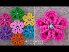 DIY Tutorial - How to Crochet Kanzashi Flower - Flowers of Japan - YouTube