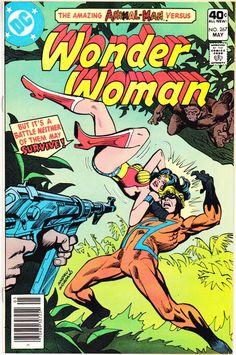Wonder Woman (May by Gerry Conway and José Delbo. The return of Animal Man. Dc Comics, Star Comics, Old Comic Books, Comic Book Covers, Paradise Island, Batman, Superman, Series Dc, Wonder Woman Comic