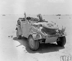 Captured Kubel. North Africa, August 1942. Photographer: Bob Landry